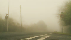 40MPH speed limit (very heavy fog) Stock Footage