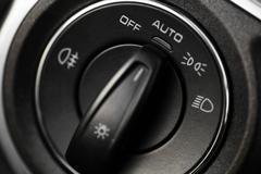 headlights button - stock photo
