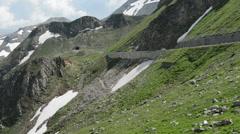 Grossglockner road through alps. Timelapse Stock Footage