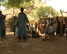 Dancing Zakouma people Stock Footage