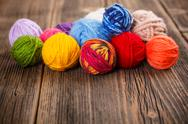 Stock Photo of knitting yarn