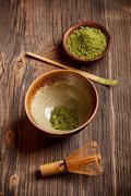 japanese tea ceremony - stock photo