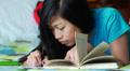 Teen Girl Doing Homework HD Footage
