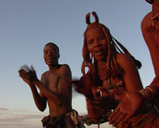 Himba singing Stock Footage