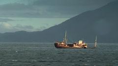 Boat sunken Stock Footage