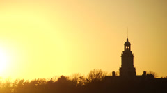 Sunset over Tower Stock Footage