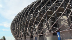 National Stadium in Kaohsiung Stock Footage