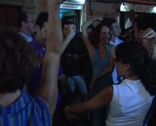 Dancing at the Velá Santana fair or Saint Anne's evenings Stock Footage