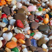 Multi-colored pebbles Stock Photos