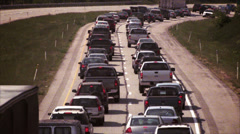 4K Traffic Jam Retro Look 4152 Stock Footage