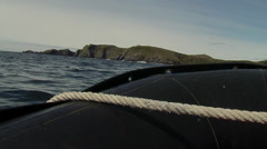 Shot of Cape horn taken from speedboat Stock Footage