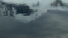 Reflection of mountains in water Stock Footage