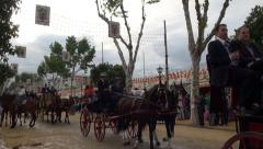 Seville April Fair Stock Footage