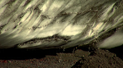 Glacier Red and Black thawing. Deception island Stock Footage