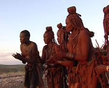 Himba singing Stock Footage