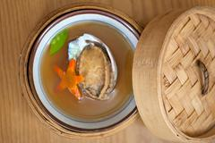 Japanese style abalone soup Stock Photos