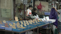 cricket market in Yue-Zhou. Shanghai - stock footage