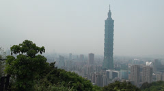 Stock Video Footage of beautiful view of Taipei city with the famed Taipei 101 skyscraper