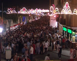 Stock Video Footage of Velá Santana fair or Saint Anne's evenings