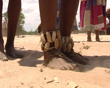 Tribal villiage life Stock Footage