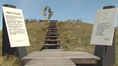 Cape horn´s monument - stock footage