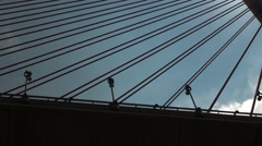Kao Ping River Bridge in backlighting. Stock Footage