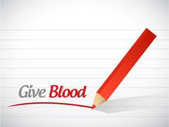 Give blood message illustration design Stock Illustration