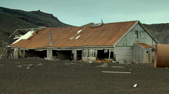 Abandoned station from whalers bay, deception island Stock Footage