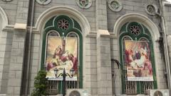Holy Rosary Cathedral, Catholic church in Kaohsiung Stock Footage