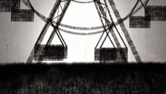 Ferris wheel (draw stop motion) Stock Footage