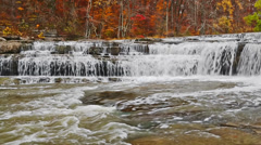 Autumn at Upper Cataract Falls Loop Stock Footage