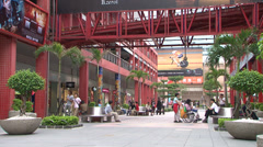 Taiwan shopping center Stock Footage
