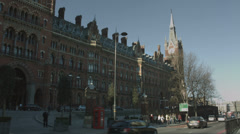 St Pancras station, London wide shot 4K Stock Footage