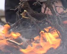 Sami light fire Stock Footage