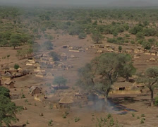 Zakouma village life Stock Footage