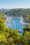 Calanque of port miou in cassis Stock Photos