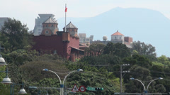 Santo Domingo castle in Danshui Stock Footage