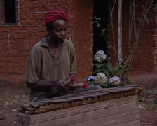 African guy playing xylophone, Stock Footage