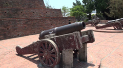 Cannons from Fort Zeelandia Stock Footage