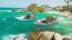 Tayrona Beach Time Lapse Stock Footage
