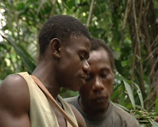 Pygmies singing a traditional song Stock Footage