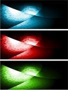 Stock Illustration of Dark contrast banners