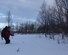 Crossing the Snow Stock Footage