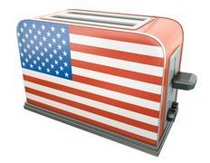 US toaster Stock Illustration