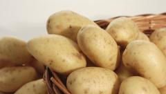 Potatoes raw food background Stock Footage
