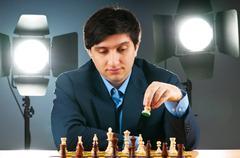 FIDE Grand Master Vugar Gashimov (World Rank - 12) from Azerbaij Stock Photos