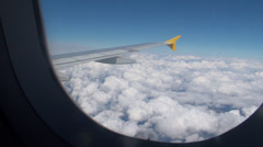 Shot of a airplane wing Stock Footage