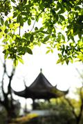 Pavilion in the Garden of the Humble Administrator, Suzhou, China - stock photo