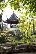 Traditional Chinese pavilion in the Humble Administrator's Garden, Suzhou, China - stock photo