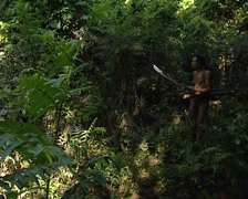 Mentawais go hunting Stock Footage